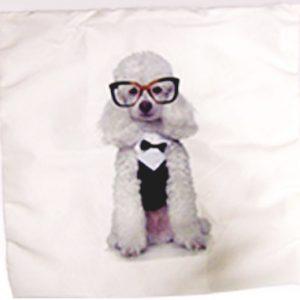 Capa para Almofada estampa poodle