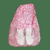 Saco para Calçado floral rosa